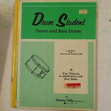belwyn mills DRUM STUDENT SNARE & BASS DRUM , EX-LIB HB