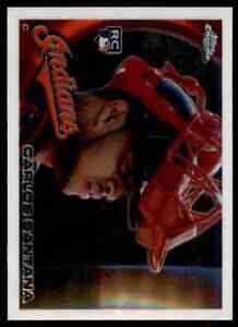 2010 Topps Chrome Carlos Santana RC Cleveland Indians #198