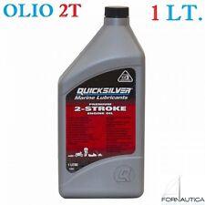 OLIO MISCELA QUICKSILVER 2T MARINO 1 LITRO - PER FUORIBORDO 2 TEMPI - NMMA TC-W3