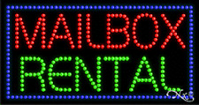 """New """"Mailbox Rental"""" 32x17 Solid/Animated Led Sign w/Custom Options 21091"""