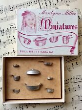 Antique 1930's Celebrity Marilyn Miller Miniatures Doll House Boxed Kitchen Set