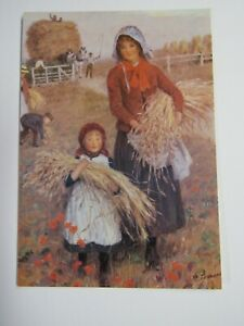 Medici Postcard By Percy Tarrant Gathering The Corn PC2122