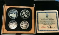 1976-Canada-Montreal-Olympic-Games-Proof-4 Coin Set Series I (4) w/  BOX/COA