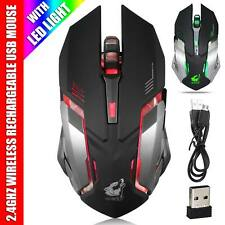 Wireless Gaming Mouse USB Optical Microsoft Computer 2000dpi PC Laptop X-08