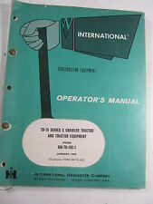INTERNATIONAL HOUGH TD-15 SERIES C CRAWLER TRACTOR OPERATOR'S MANUAL  1973