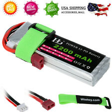 7.4V 2200mAh 25C 2S LiPo Battery w/T Plug for RC Airplane Car Truck Quadcopter