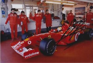 Luciano Burti signed F1 photo - Ferrari F2004 F1 test 2004