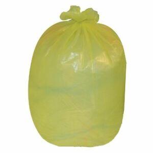 Jantex Large Bin Bags in Yellow - Medium Duty - 90 Ltr - 10 kg - 200 pc