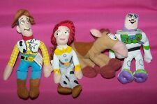 Lot of 4 Kellogg's Cereal Premium - Mini Bean Plush Toys - Toy Story