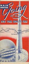 Vintage 1939 New York World's Fair OHIO BUILDING Road Map Rand McNally Bricker