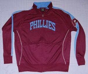 Philadelphia Phillies Jacket Throwback Full Zip Track Jacket - MLB Cooperstown