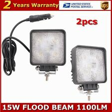 NEW 2X 15W LED WORK LIGHT FLOODLIGHTS TRUCK OFFROAD AUTO 4X4 MOTO LAMP 12V24V US