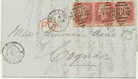 "2304 GB ""186 / DUBLIN"" IRISH Numeral Duplex cancellation cvr 3 x 1 D Pl.141 Var."