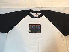 Men's Blue Man Group White T-Shirt With Black Sleeves Sz XL   P7