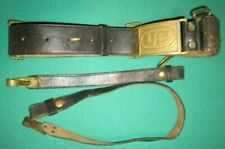 Original Indian wars M1872 Cavalry Belt With Us brass Plate And Saber Hangers