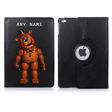 FNAF Freddy's 02 Name Personalised iPad 360 Rotating Case Cover Birthday Present