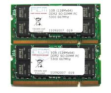 2 x 1gb = 2gb ddr2 SO-DIMM RAM 5300 667mhz 200 pin Buffalo SELECT per MacBook