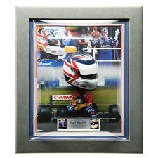 Firmata Nigel Mansell 1/2 SCALA CASCO F1 Williams incorniciato Display