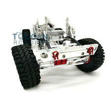 US Stock 1/10 SCX10 D90 RC Rock Crawler Car Aluminium Alloy Frame Chassis Silver