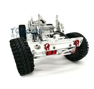 1/10 SCX10 RC Rock Crawler Car CNC Aluminium Alloy 4WD Frame Chassis KIT Silver