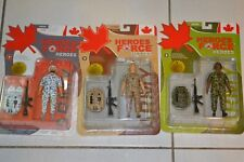 BRAND NEW in box Canadian Heroes Force collectible figures set of three