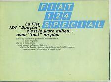 (36B) CATALOGUE FIAT 124 SPECIAL