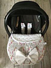 Unicornios Delantal de asiento de coche de bebé arnés cubre moño blanco Piel Sintética Ajuste Universal