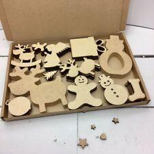 Chritsmas Catador-Caja De Mdf 18 mm & 4 mm de madera Craft Espacios en Blanco Navidad Decoupage Hobby