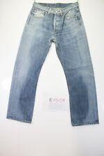 Levis 501 (Cod. E1559) Tg45 W31 L30 jeans usato Vita Alta Vintage Streetwear