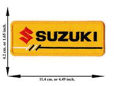 Yellow Suzuki Biker Rider Motorcycle Racing Team Logo Applique Iron on Patch