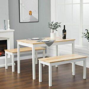 Pine Wood Dinning Table Chair Set Kitchen Furniture Living Room Modern Furniture