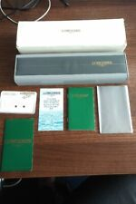 VINTAGE LONGINES WATCH BOX, GUARANTEE AND MANUALS