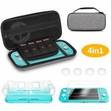 4 in 1 Schutzhüllen Für Nintendo Switch Lite Tragetasche HD-Glas Displayschutzfo