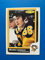Mario Lemieux 1986-87 #122 O-Pee-Chee Hockey Card OPC Pittsburgh Penguins OPC