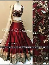 Bollywood Designer Party Wear Maroon Color Heavy Blouse Lehenga Choli