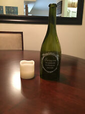 Wine Bottle Candle Holder with LED Candle, The Best Time to Celebrate, 11""
