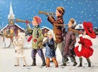 """Victorian Children """"HOLIDAY PARADE"""" Christmas Card MINT Condition B. Shackman"""