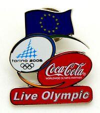Pin Spilla Olimpiadi Torino 2006 - Coca Cola Flag UE