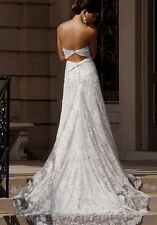 Essence of Australia D800SV Ivory White Wedding Dress - Size 8