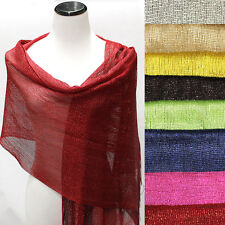 Glitter Sparkle Sequin Style Shawl Wedding Party Evening Scarf  Wrap Fringe Gift