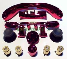 Xbox 360 Controller Brass Bullet Buttons ABXY + Full Mod Kit Red Chrome
