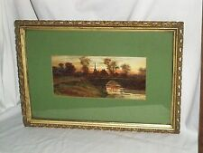 Louis Kinney Harlow Watercolor Framed and Matted