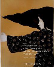 Christie's Dubai Modern & Contemporary Arab, propaganda, Turkish tipo Auction Catalog