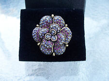 Flower Ring, Size 8, New Heidi Daus Petal Profusion Crystal