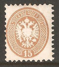 1218 - LOMBARDO VENETO - Sassone # 45d - nuovo gommato linguellato - filigrana