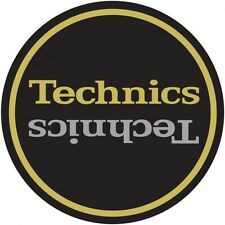 Technics Limited Edition Champion Slipmats (pair, black gold silver) 1200 Mk2
