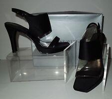 """NIB Nine West """"Skittle"""" Black Fabric Platform Sandal 7M"""