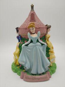 Vtg Walt Disney World Princess Coin Bank: Belle, Snow White, Cinderella, Aurora
