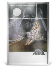 2018 Niue Star Wars Posters New Hope Silver Foil Note 35g Silver $2 OGP SKU53156