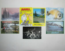 Lot of 7 Alaska Postcards Landscapes Harp Seal McNeil River Red Dog Saloon 1980s